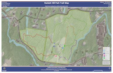 Hackett Hill Trail Map