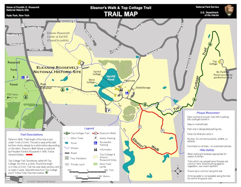Eleanors Walk and Top Cottage Trail Map