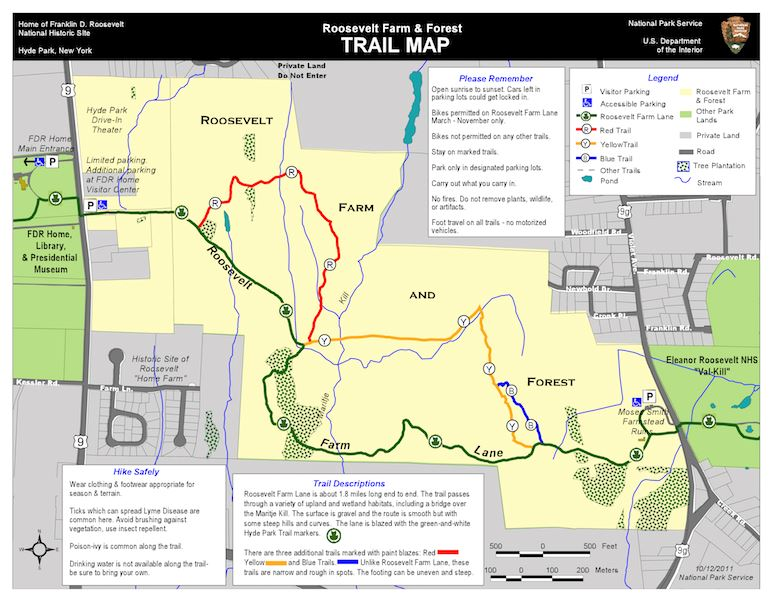 Roosevelt Farm and Forest Trail Map