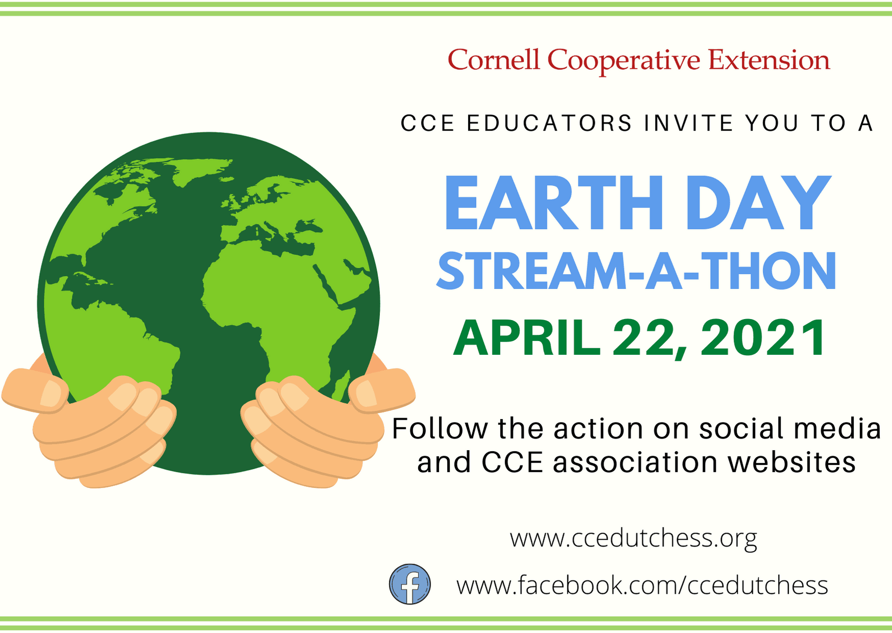 Earth Day 2021 Save the Date Flyer